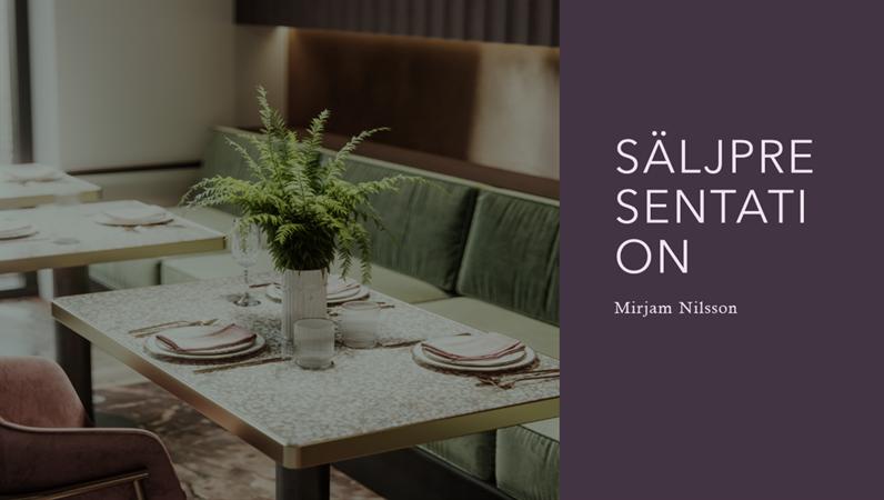 Säljpresentation för restaurang