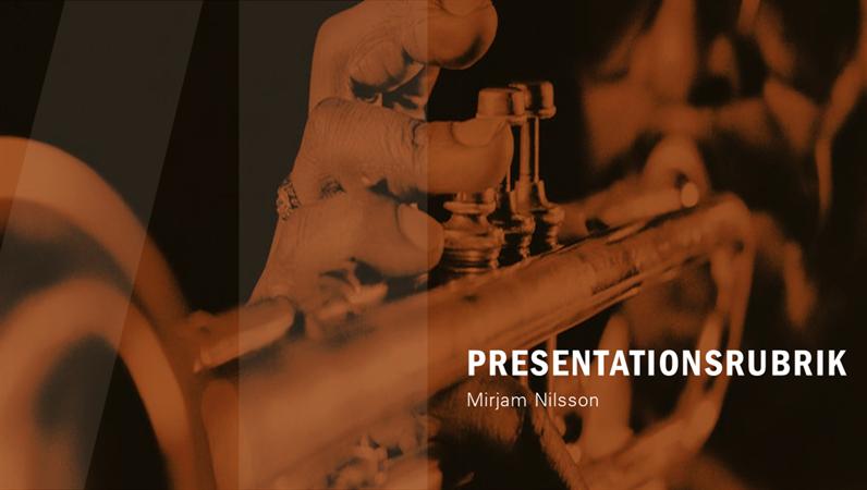 Modern presentation