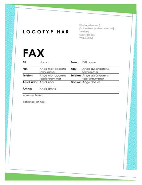 Geometriskt försättsblad för fax