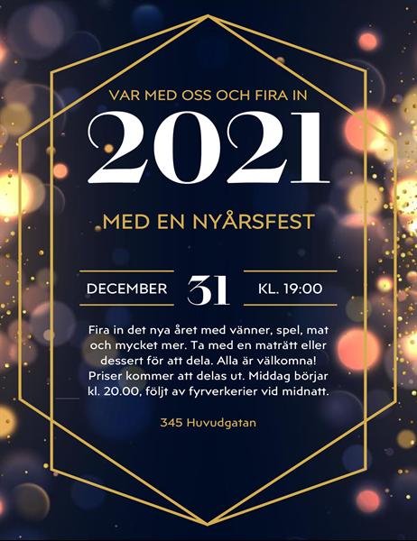 Flygblad för nyårsfest