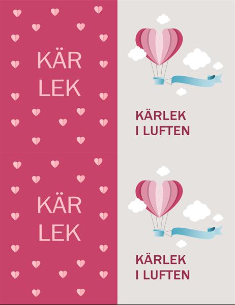 Alla hjärtans dag-kort med kärleksbudskap