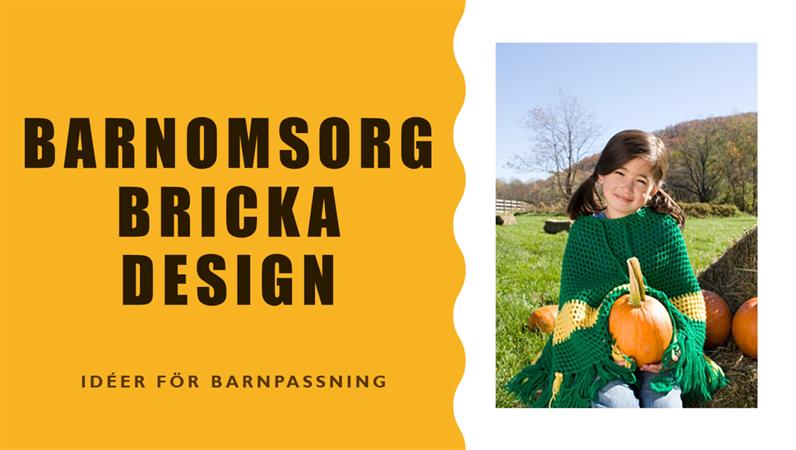 Designen Barnomsorgsmärke