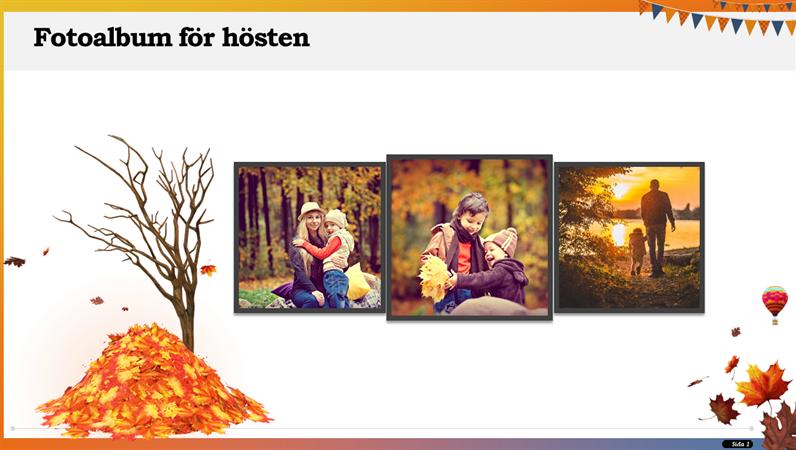Fotoalbum för hösten
