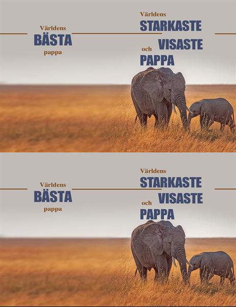 Fars dag-kort med klok elefant