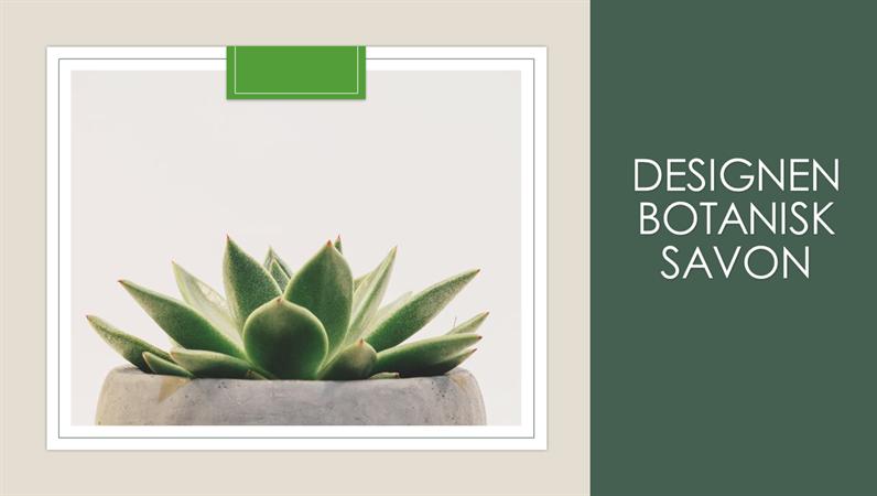 Designen Botanisk savon