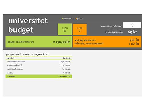 Studiebudget