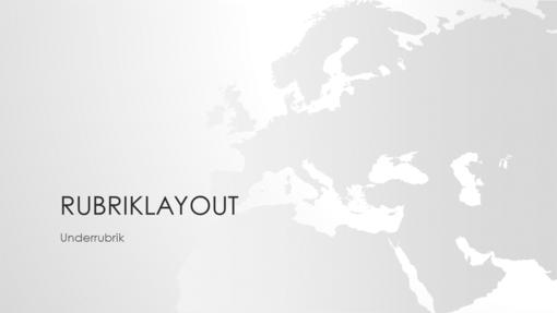 Världskartor, Europa – presentation (bredbild)