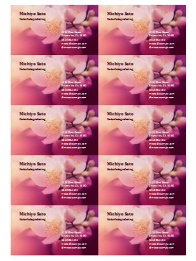 Visitkort (foto på blomma)