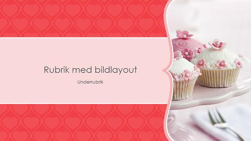 Fotoalbum med rosa hjärtan (bredbild)
