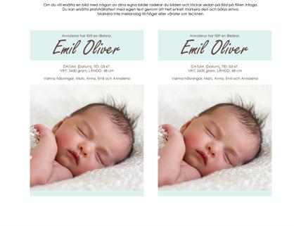 Meddelande om nyfödd pojke