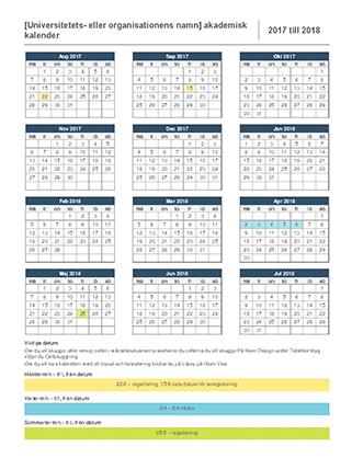 Akademisk kalender för 2017-2018