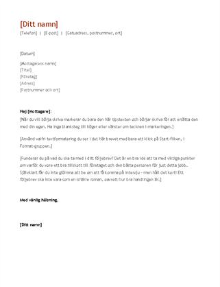 Meritförteckning och följebrev (kronologisk ordning)