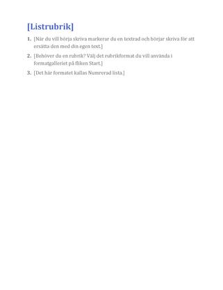Grundläggande lista