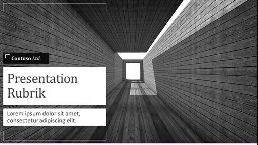 Säljpresentation för arkitektur