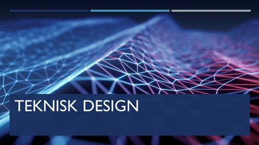 Designen Utdelning för teknik