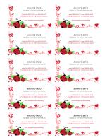 Visitkort (nyckelpigor och hjärtan, centrerad, 10 per sida)