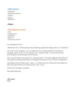 Funktionellt följebrev till meritförteckning (passar till funktionell meritförteckning)