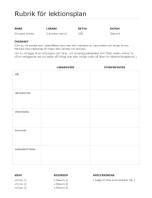 Lektionsplaneringskalender dag för dag