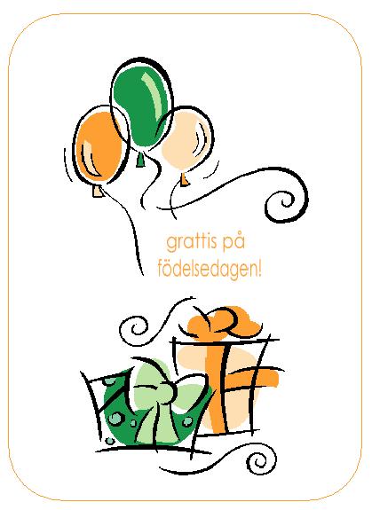 Födelsedagskort (med ballonger)