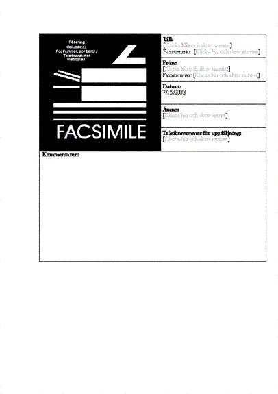 Försättsblad för fax (företag)