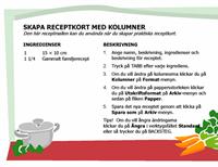 Receptkort (flera spalter)
