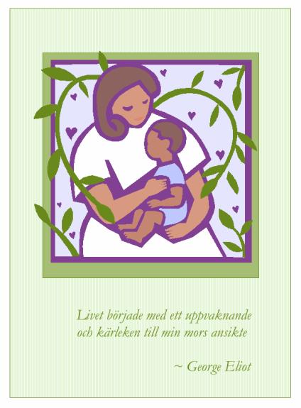 Mors dag-kort (med mor och barn)