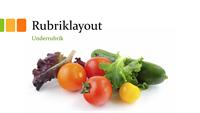 Presentation, färska grönsaker (bredbildsformat)