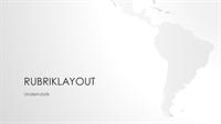 Världskarteserien, presentation med den sydamerikanska kontinenten (bredskärm)