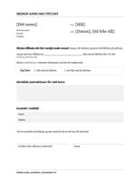 Tillståndsformulär, utflykt (mellanstadiet och högstadiet)