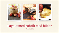 Presentation med kokboksdesign (bredbildsformat)
