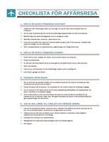 Resa – checklista