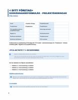 Auktoriseringsformulär för projektändring