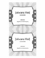 CD-inlägg (fungerar med Avery 5693)