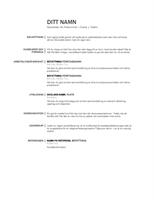 Enkel meritförteckning