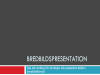 Widescreen-presentation