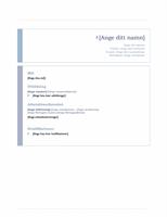 Meritförteckning (enkelt)