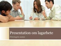 Presentation om lagarbete