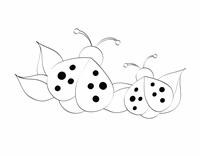 Färgläggningsbild (nyckelpiga)