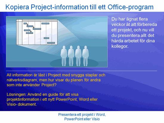 Utbildningspresentation: Project 2007 – Presentera ett projekt i Word, PowerPoint eller Visio
