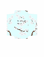 Sedelkort (blå blommor)