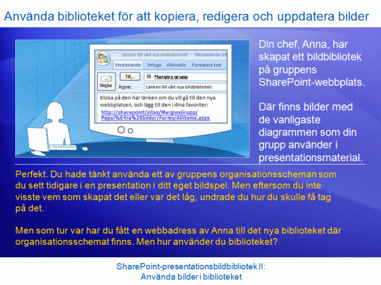 Utbildningspresentation: SharePoint Server 2007 – Presentationsbildbibliotek II: Använda bilder i bildbiblioteket