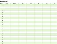Evighetskalender för valfritt år (vertikal)