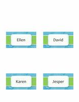 Namnbrickor eller placeringskort (moln, dubbelvikt modell)