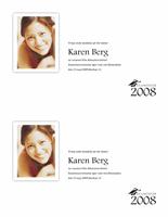 Meddelande om examen med foto (halv sida)