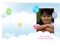 Festinbjudan med foto (ballonger, halvvikning)
