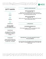 Snyggt CV, utformat av MOO