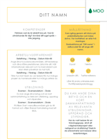 Tydligt och rent CV, utformat av MOO