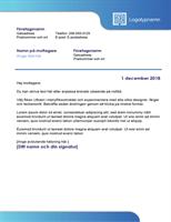 Affärsbrev (blå kant och färgtoning)