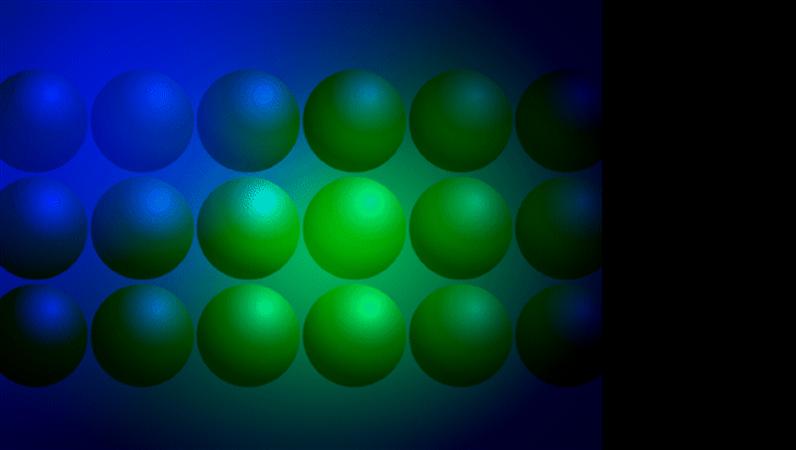 แม่แบบการออกแบบลูกบอลสีฟ้าและสีเขียว