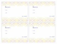 บัตรตำราอาหารประจำวันหยุด (4 บัตรต่อแผ่น ใช้ได้กับ Avery 3263, 3380 และ 8387)